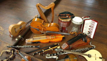 Traditional Irish instruments - musical instruments