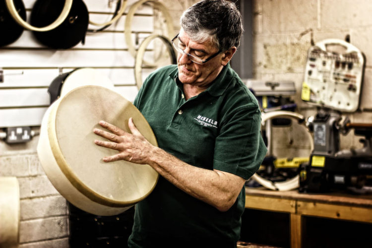 Lambeg bodhran skin - McNeela Blog is all about Traditional Irish Music, Traditional Irish Instruments and plenty of resources for learners, advanced and performance level musicians