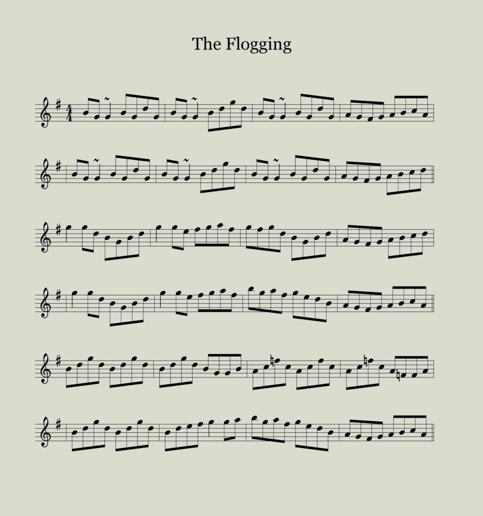 Sheet Music for The Floggin Reel with F natural