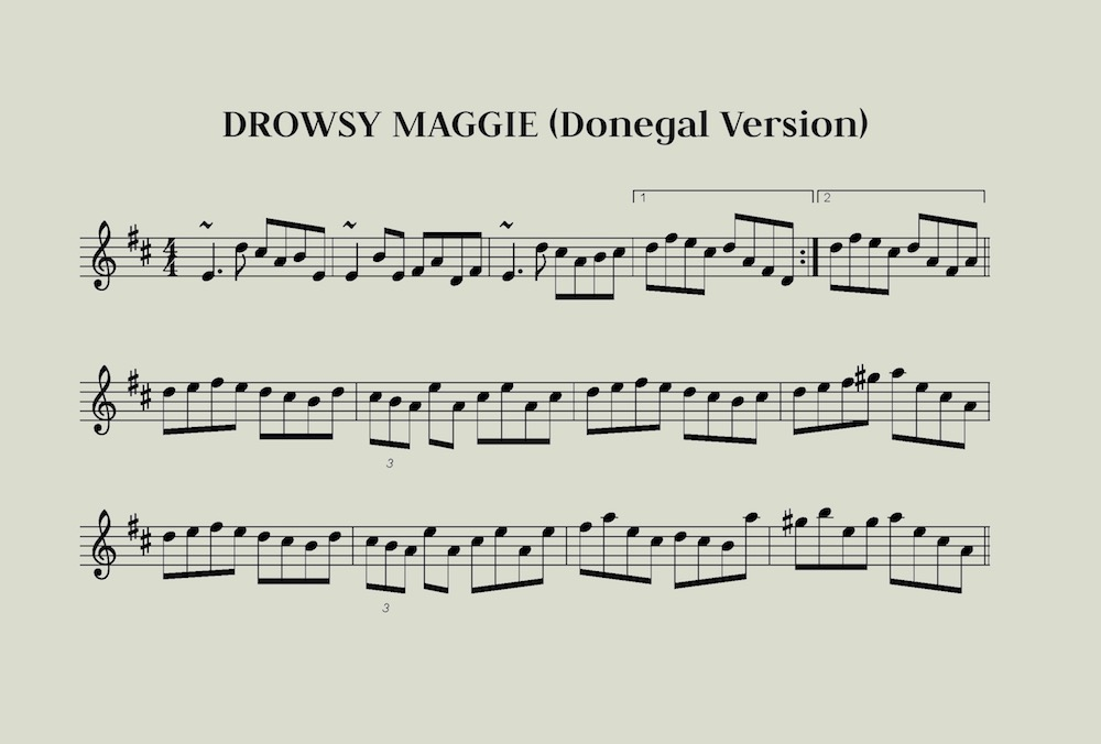Drowsy Maggie Donegal Version