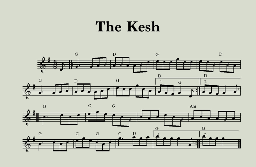 Sheet Music for the Kesh Jig (Double Jig)