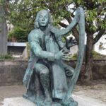 Sculpture of Irish Harpist Turlough O'Carolan