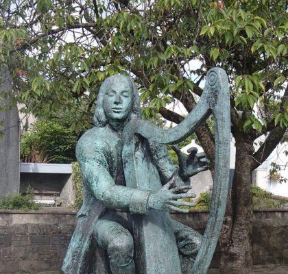 National Harp Day - Sculpture of Irish Harpist Turlough O'Carolan