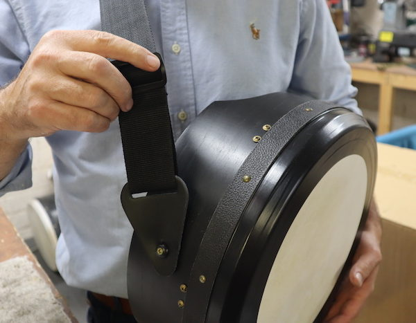 How to attach a mcneela bodhran strap to your bodhran