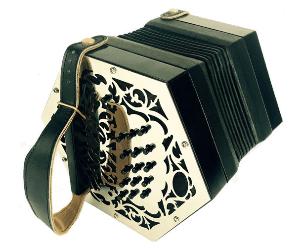 The Swan a premium Irish Concertina with metal ends
