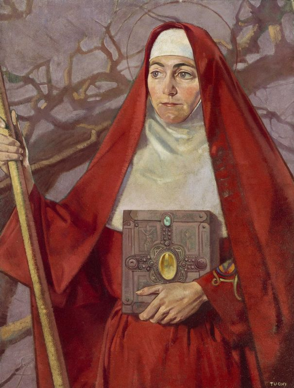 Painting of St Brigid by Patrick Joseph Tuohy