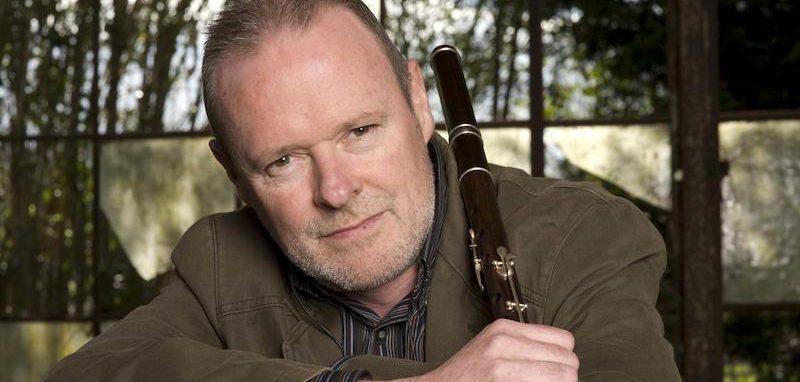 Conal Ó Gráda with his keyed African Blackwood Irish flute