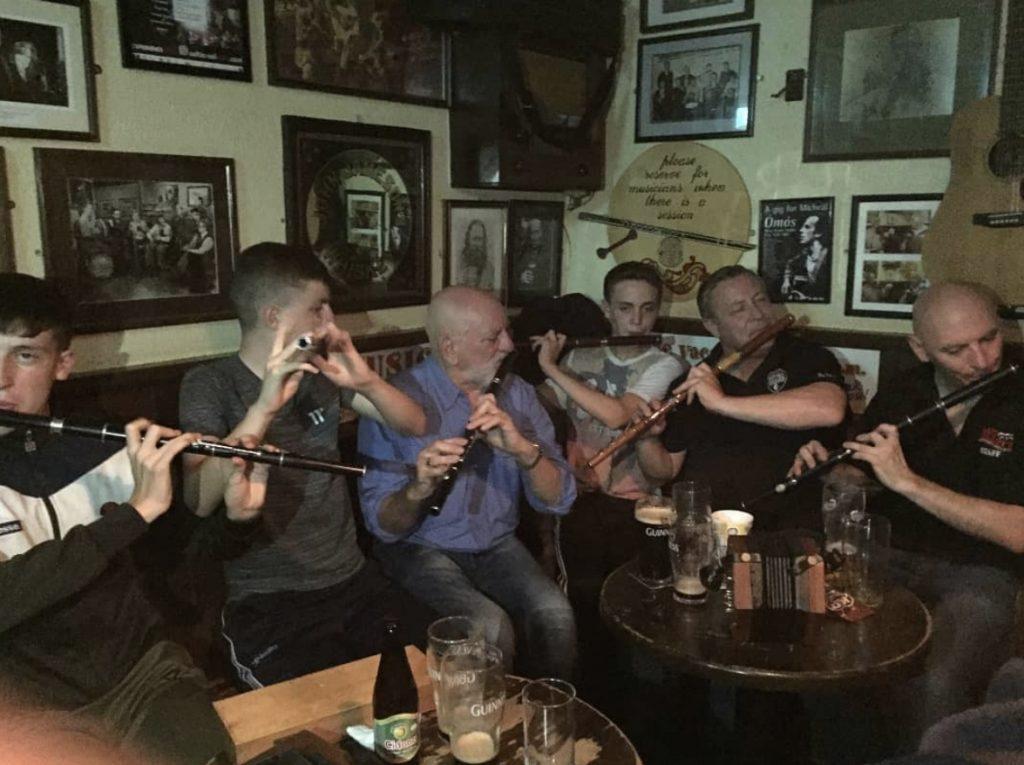 Matt Molloy Irish flute session