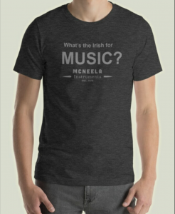 McNeela Irish music christmas gift ideas - ceol mcneela tshirt