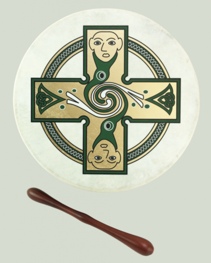 McNeela Irish music christmas gift ideas - cross bodhran set