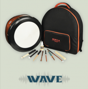 Irish music christmas gift ideas - wave bodhran set