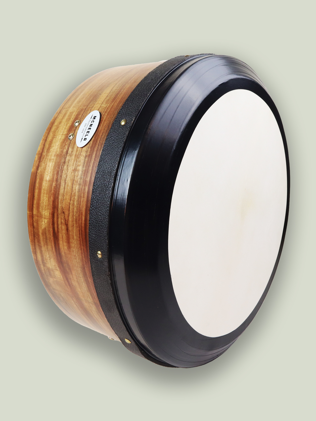 The McNeela Rosewood bodhrán is on e of the most beautiful bodhráns on sale today plus it produces a lush bass that will stir the soul