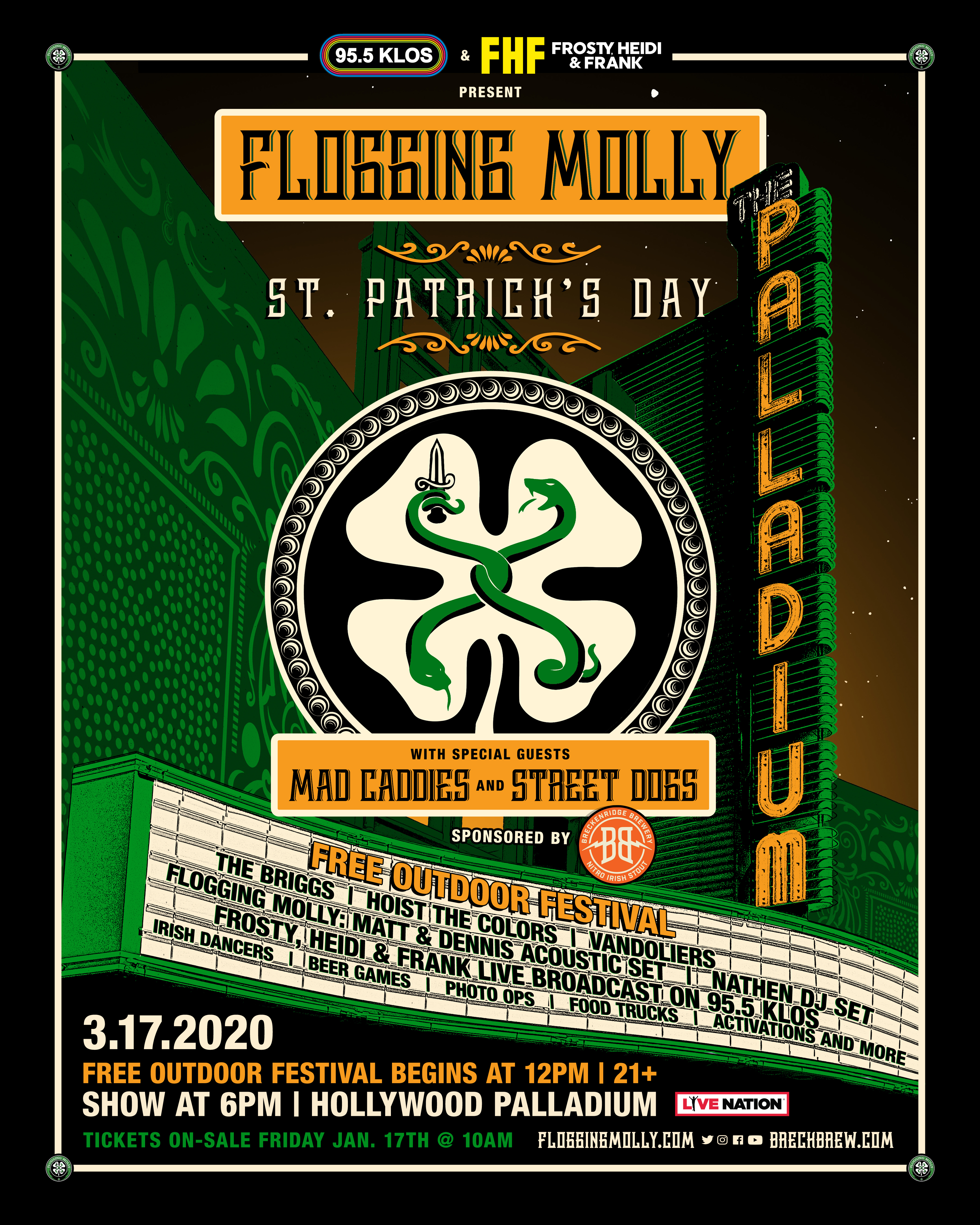 Flogging Molly play The Palladium in L.A.