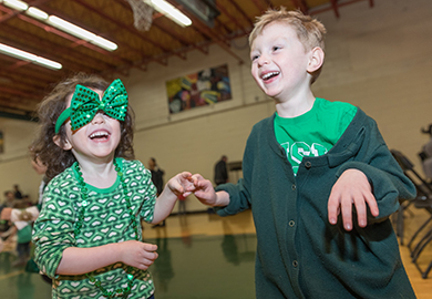 Children Celebrating St Patrick's Day at New York Irish Centre