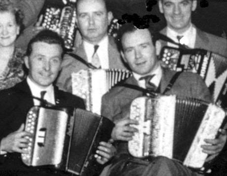 Paddy O'Brien with accordion friend Joe Cooley