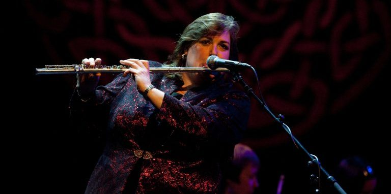 Joanie Madden playing traditional Irish music on the classical flute Boehm flute silver flute