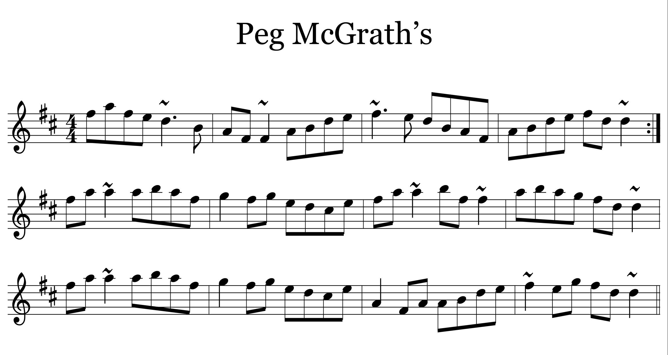 Peg McGrath's Reel
