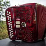 1957 Red Paolo Soprani Accordion