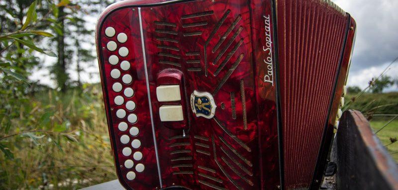 1957 Red Paolo Soprani Accordion