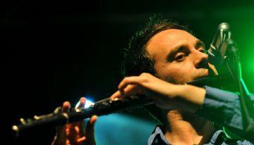 Irish flute player