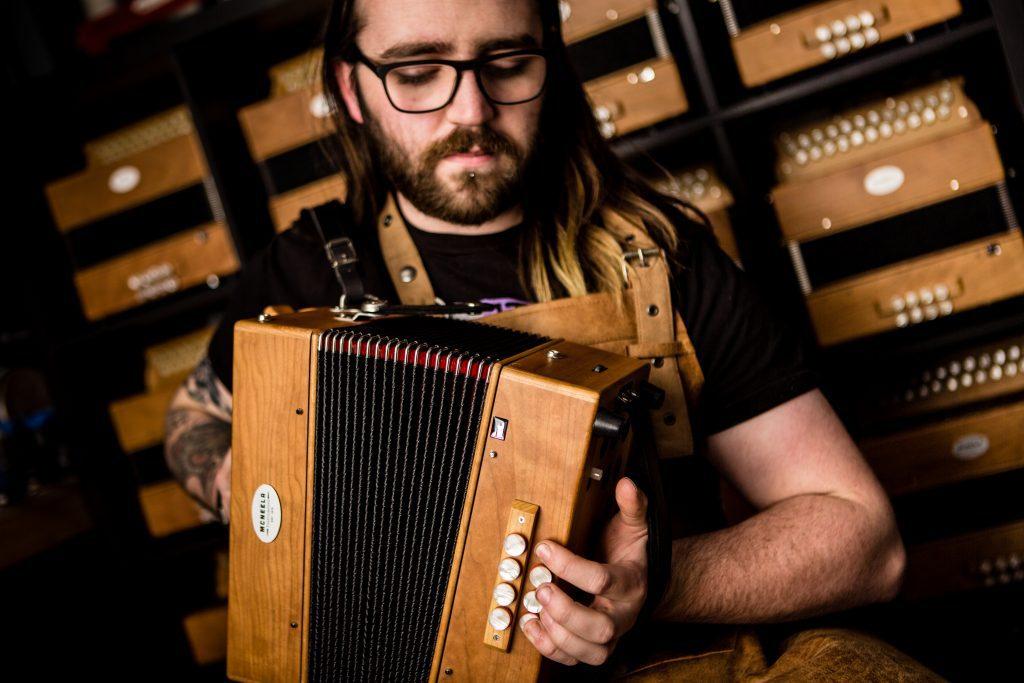 Best button accordions - McNeela premium wooden 3 voice diatonic button accordion - top five best button accordions