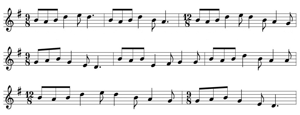Dilin O Deamhas Song and Slip Jig Notation