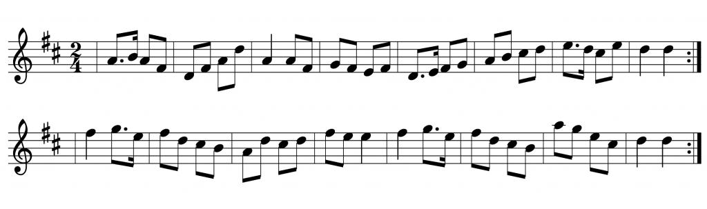 the little diamond polka - beginner Irish button accordion tunes