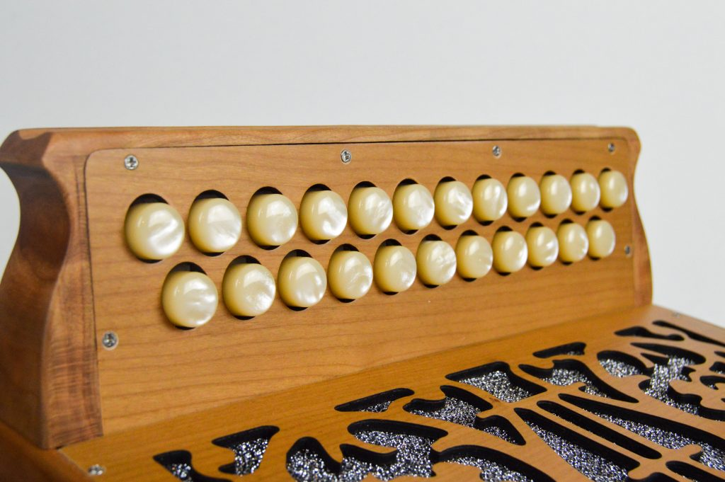 mcneela button accordion treble fingerboard