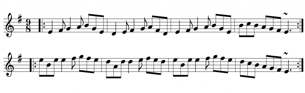 Deirdre's Fancy Slip Jig - beginner session tunes