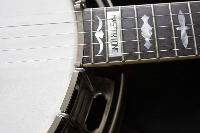 Five string banjo fretboard neck