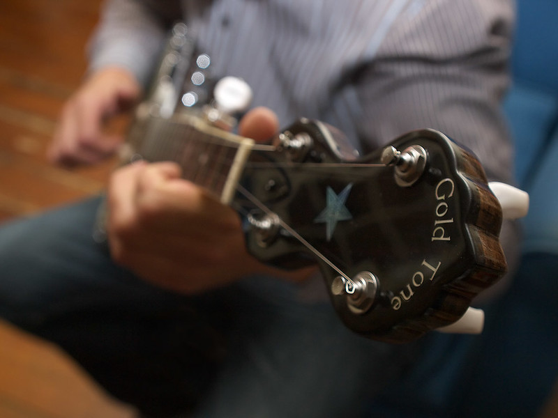 Banjo neck and pegs