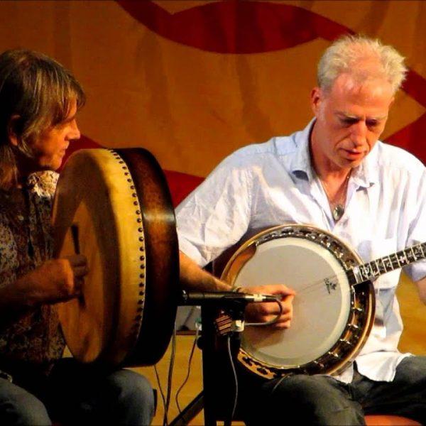 Johnny Ringo McDonagh on bodhran and Brian McGrath on bajo