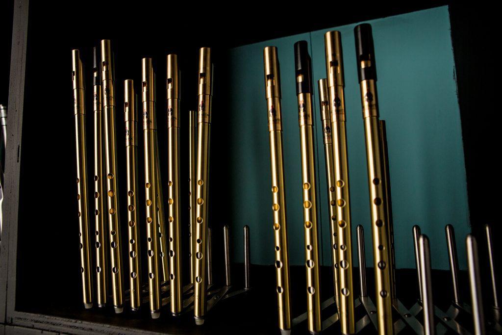 Setanta whistles - collection of Irish tin whistles