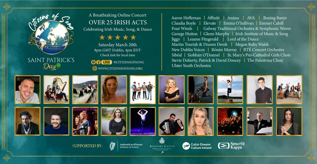 Citizens of Song Irish Gala Concert Saint Patrick's Day