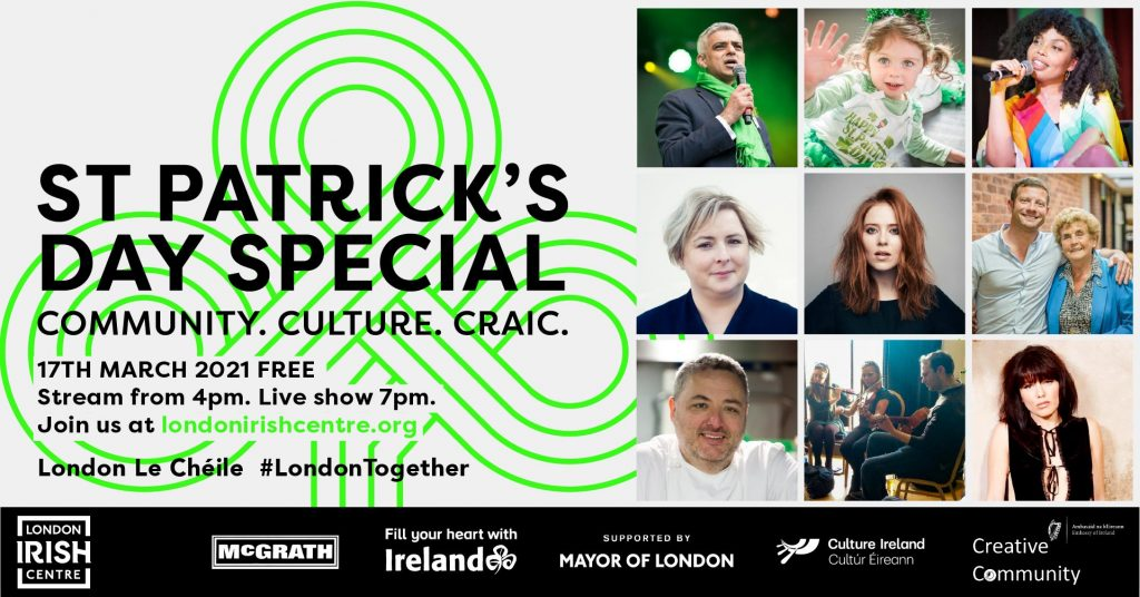 London Irish Centre St Patirick's Day Festival 2021