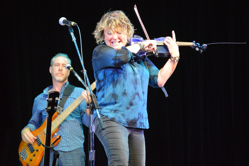 Eileen Ivers performs on her iconic blue electric violins
